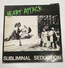"New listing Heart Attack - Subliminal Seduction Vinyl 12"" 1984 Rat Cage Records Motr 27"