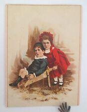 SAMPSON BROS. Clothing Retailers Victorian Trade Card, Poughkeepsie, Dutchess Co