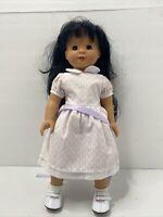 "Vintage Gotz 18"" Doll Black Hair Brown Eyes Gotz"