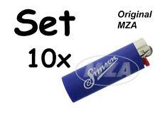 Simson 10x Encendedor BIC,azul Tapa de cromo Letras: y En todo momento