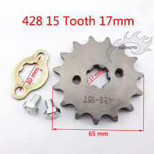 428 15T 17mm Front Engine Sprocket Gear For Pit Dirt Bike Lifan YX 50-160 cc ATV