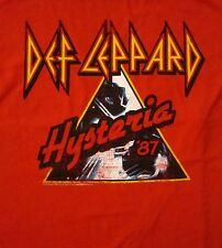 DEF LEPPARD cd cvr HYSTERIA '87 Official Red SHIRT XL new