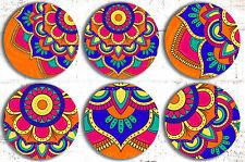 Mandala Drink Coasters x 6 Non fading