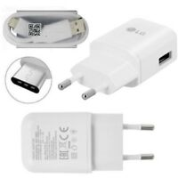Genuino LG 2 Clavijas Ue Pared Cargador / Tipo C Datos USB Cable Para G6 G5 Nexo
