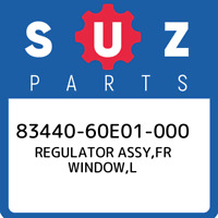 83440-60E01-000 Suzuki Regulator assy,fr window,l 8344060E01000, New Genuine OEM