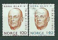 Norway - Mail 1973 Yvert 620/1 MNH Character