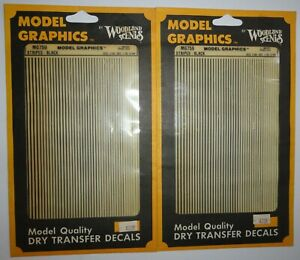 Vintage Woodland Scenics Train Model Graphics - Black Stripes - 2 Sets - MG759