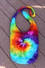 Tie dye boho hobo bag rainbow swirl