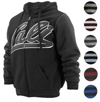 Men's Athletic California Graphic Sherpa Fleece Lined Cali Zip Up Hoodie Jacket