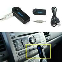 Wireless Bluetooth 3.5mm AUX Audio Stereo Music Car Mic Black. Receiver E5N3