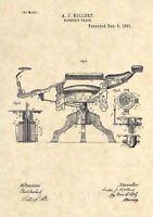 Official 1891 Kochs Barber Chair Patent Art Print- Antique Vintage Shave Cut 487