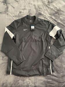 Nike Lockdown AO5858 1/2 Zip Black Team Gold Windshirt Wind Golf Jacket Mens M