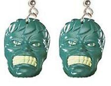 Funky INCREDIBLE HULK EARRINGS Comics Super Hero Novelty Cosplay Costume Jewelry