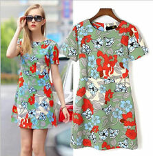 Unbranded Short Sleeve Casual Floral Dresses for Women