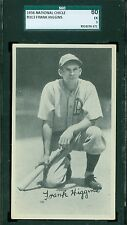 1936 National Chicle R313 Card - Frank Higgins - Philadelphia Athletics- SGC 60