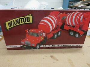 FIRST GEAR MANITOU 1:34 MACK R CEMENT MIXER #19-2260 1998 SPECIAL EDITION