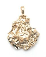 Pendant Gold Plated Nugget Charm For Necklace Christmas Gifts Free Shipping New
