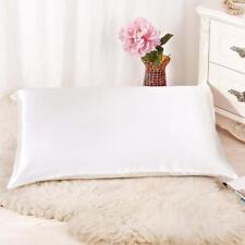 Rectangle Cushion Cover Throw Pillow Case Silk Sofa Bed Pillowcase Simple Solid