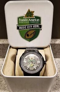 2014 NOTRE DAME ~ Music City Bowl ~ Fossil Black Watch ~ Team Issued ~ NIB