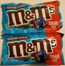 NEW 2019 TWO (2) BAGS HAZELNUT SPREAD M&M'S CHOCOLATE CANDIES FREE SHIPPING
