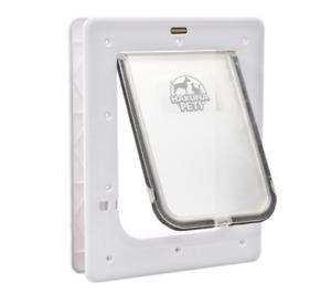 Hakuna Pets White Medium Super Tough Pet Door