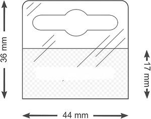 Euro Tags Hang Tags Slot HangTabs Strong Hold Adhesive Tags  44mm x 36mm