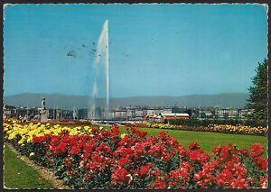 AD3830 Switzerland - Genève - The Jet D'Eau Et The Statue De The Brise