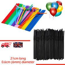 Flexible Bendy Black Plastic Straws Birthday Party Drink Wedding Summer Coloured