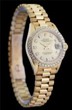 Rolex Ladies President Datejust 69138 18k Gold Factory Diamond Dial and Bezel