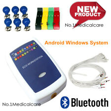 Bluetooth ECG Workstation 12 lead EKG Analyzer 3-lead Vector Recorder Wireless