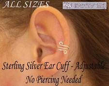 Ear Cuff STERLING SILVER .925 Triple Wrapped Loop for Non Pierced Ears Xmas