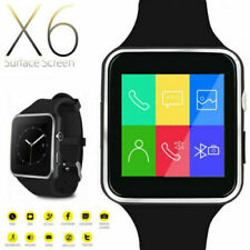 Bluetooth x6 Smart Watch Phone Mate Round Touch Screen SIM GSM For Android iOS