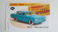 Dinky Toys Atlas - Fascicule SEUL de la Chevrolet Corvair (Booklet only)