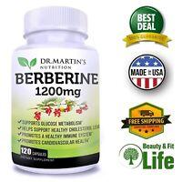 BERBERINE HCI 1200 mg 120 Capsules Immune System Health Blood Sugar Metabolism