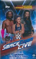 2019 wwe smack down live sealed trading cards box 24 pack box 2 hits per box