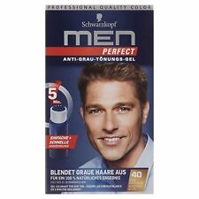 Schwarzkopf Men Perfect Anti-Grau Tönungs-Gel Stufe 2, 40 Natur Dunkelblond