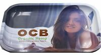 "New OCB® Cigarette Papers Brand Metal Rolling Tray 14"" x 11"" Organic Pretty Lady"