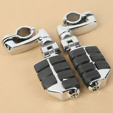 "Chrome Universal Highway Foot Pegs Mount For 32MM 1-1/4"" Engine Guard Crash Bars"