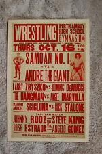Andre The Giant vs Samoan No. 1 Wrestling Poster 1980 Perth Amboy High School