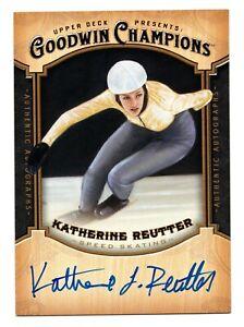 2014 Goodwin Champions Autograph  Katherine Reutter Speed Skating USA