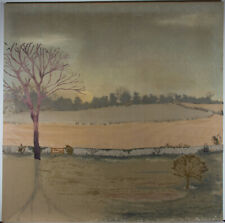 Large 20th Century Mixed Media - Winter Landscape
