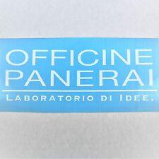 Officine Panerai Vinyl Decal Die Cut 3x8in White Watch Logo Window Sticker