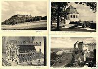 Lot von 9 AK, Königstein Elbe, Festung Königstein, 1955/56, Verlag: Foto Hering