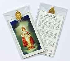 INFANT CHILD OF PRAGUE - PRAYER CARD & MEDAL