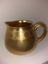 ANTIQUE PIKARD GOLD ENCRUSTED LARGE WATER PITCHER  GALLON SIZE