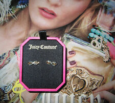 Juicy Couture Earrings Tied Up Pave Bow NEW $42