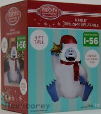 Christmas Gemmy 4 ft Rudolph The Red Nosed Reindeer Bumble Airblown Inflatable