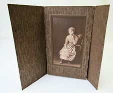 Vintage pretty girl Photograph photo 1910s '20s antique in folder 5x7