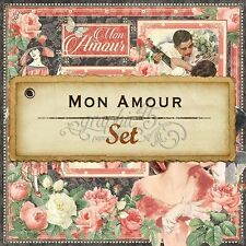 "GRAPHIC 45 ""MON AMOUR"" 12X12 PAPER PACK 8 SHEETS ROMANCE LOVE  SCRAPJACK'S PLACE"