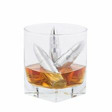 Bullet shaped drinks coolers x 6 with tongs